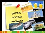 special holiday packages