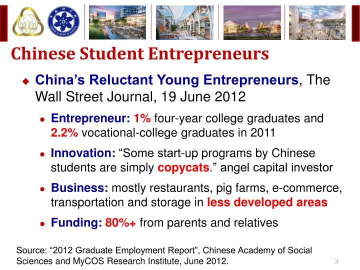 Chinese student entrepreneurs
