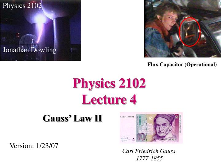 physics 2102 lecture 4 n.