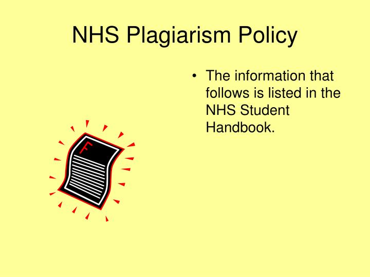 The information that follows is listed in the NHS Student Handbook.