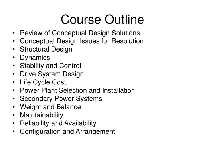 course outline n.