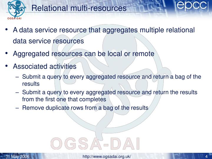 Relational multi-resources