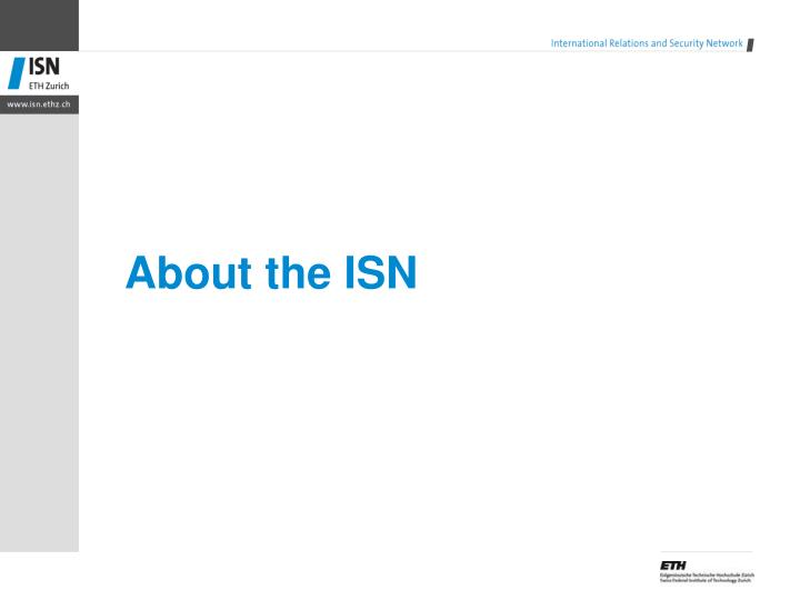 About the isn