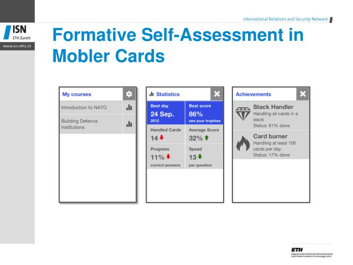 Formative Self-Assessment in