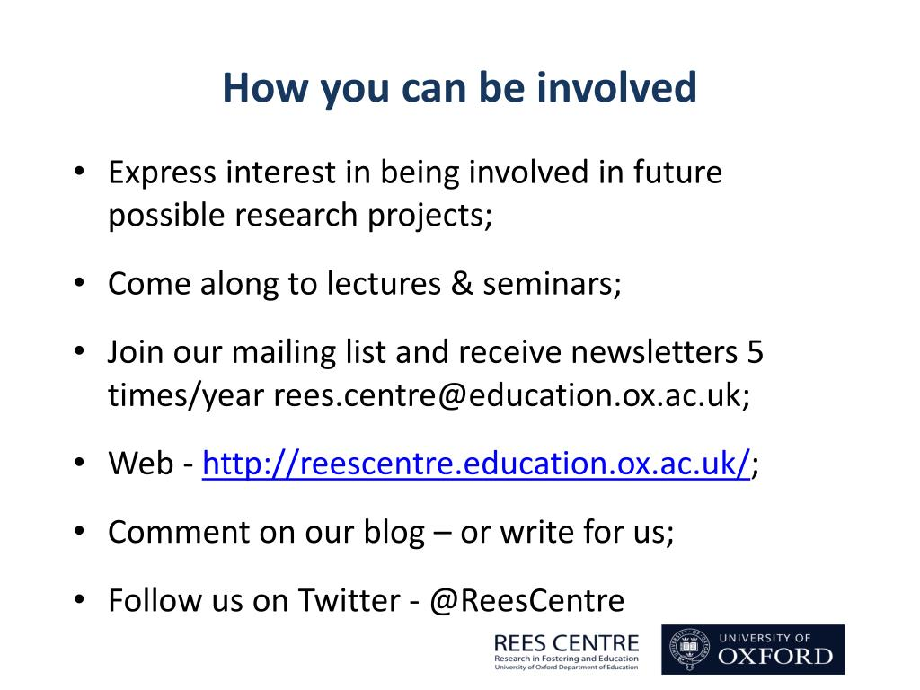 PPT - Judy Sebba Rees Centre for Research in Fostering and Education