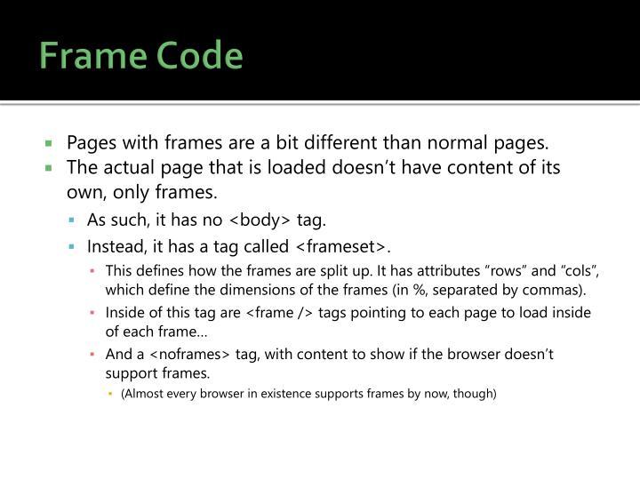 Frame Code