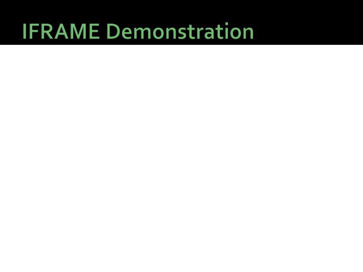 IFRAME Demonstration