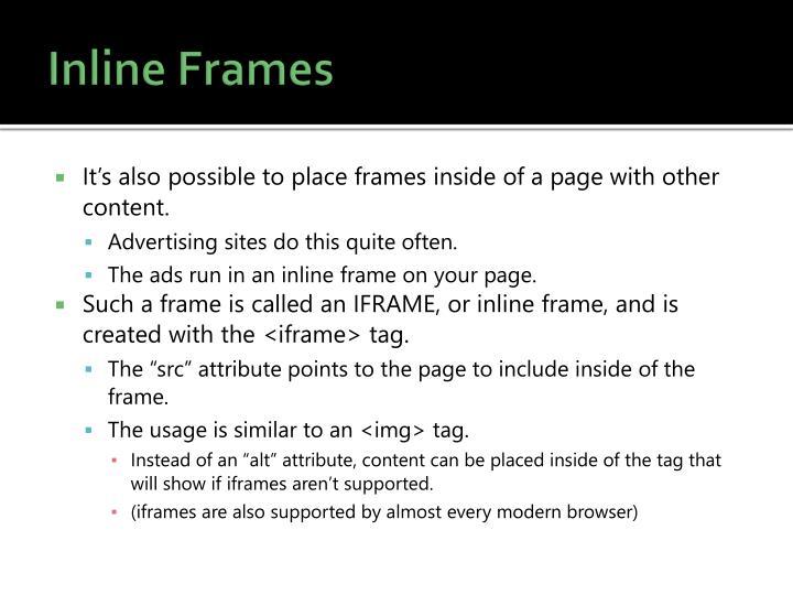 Inline Frames