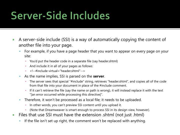 Server-Side Includes