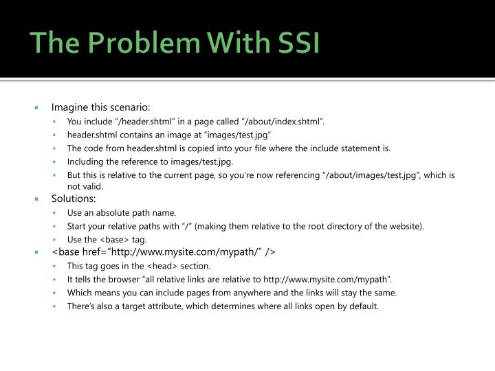 The Problem With SSI