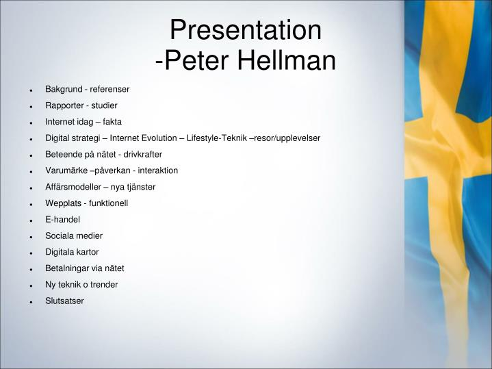 Presentation peter hellman