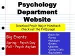 psychology department website