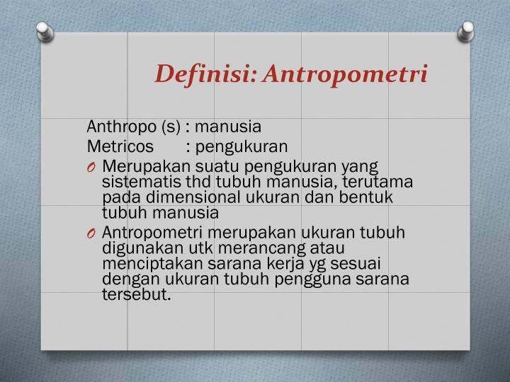 Definisi antropometri