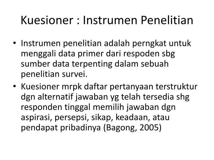 Ppt Kuesioner Questionare Angket Powerpoint Presentation Id
