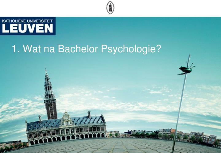 1 wat na bachelor psychologie