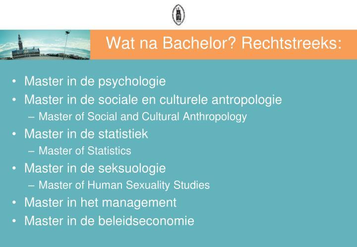 Wat na Bachelor? Rechtstreeks: