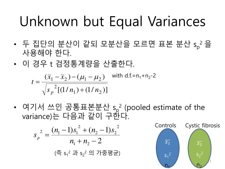Unknown but Equal Variances