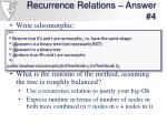 recurrence relations answer 4