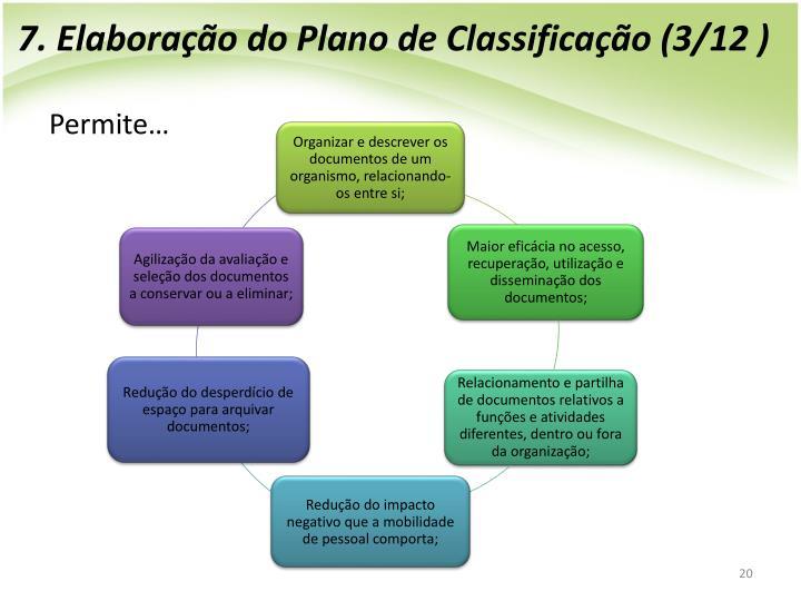 7. Elaboração do Plano de Classificação (3/12 )