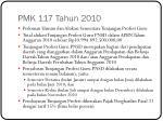 pmk 117 tahun 2010