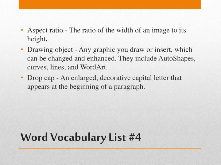 Word vocabulary list 41