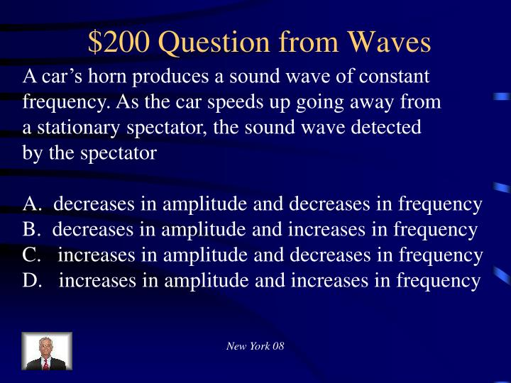 $200 Question from Waves