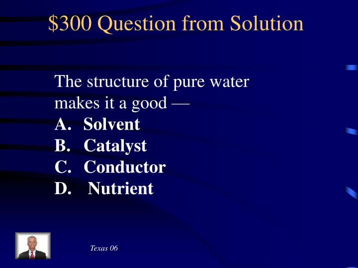 $300 Question from Solution