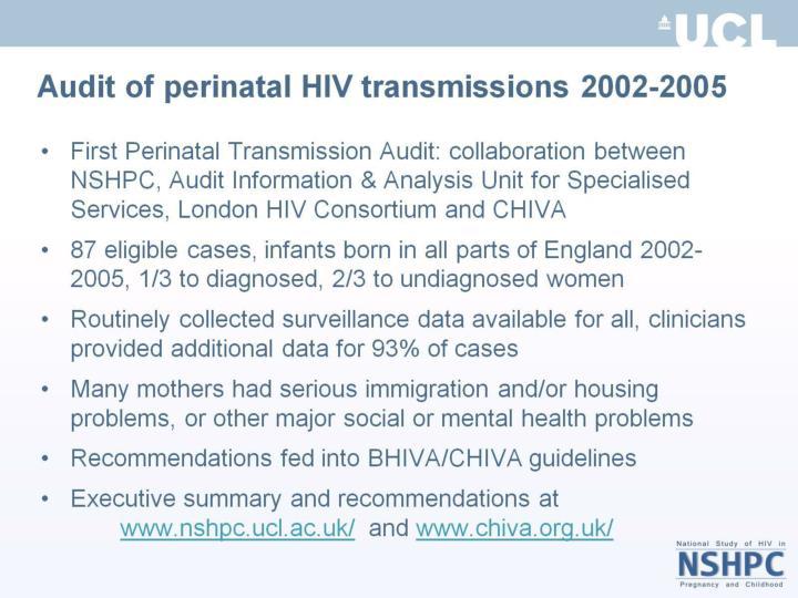 Perinatal hiv transmission