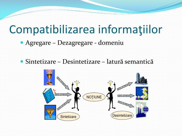 Compatibilizarea informaţiilor