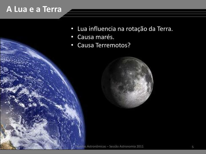 A Lua e a Terra