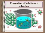 formation of solutions solvation