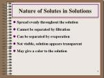 nature of solutes in solutions