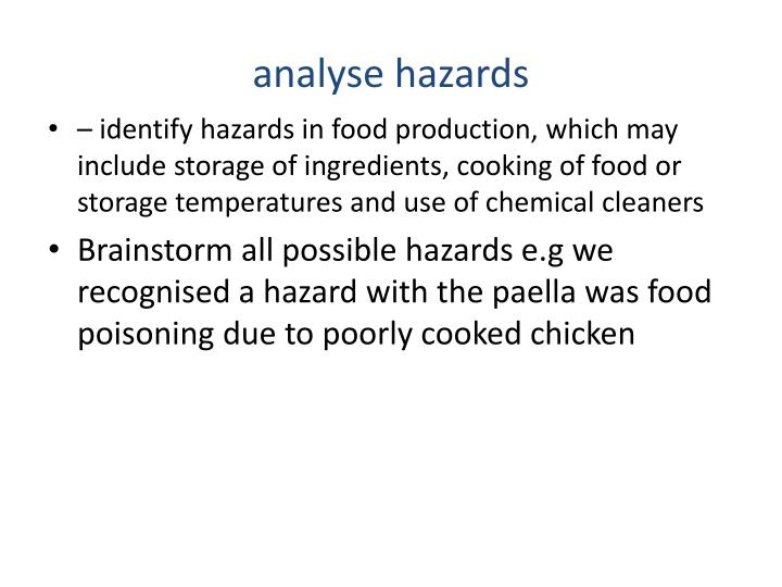 analyse hazards