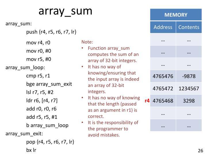 array_sum