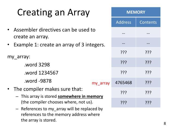 Creating an Array
