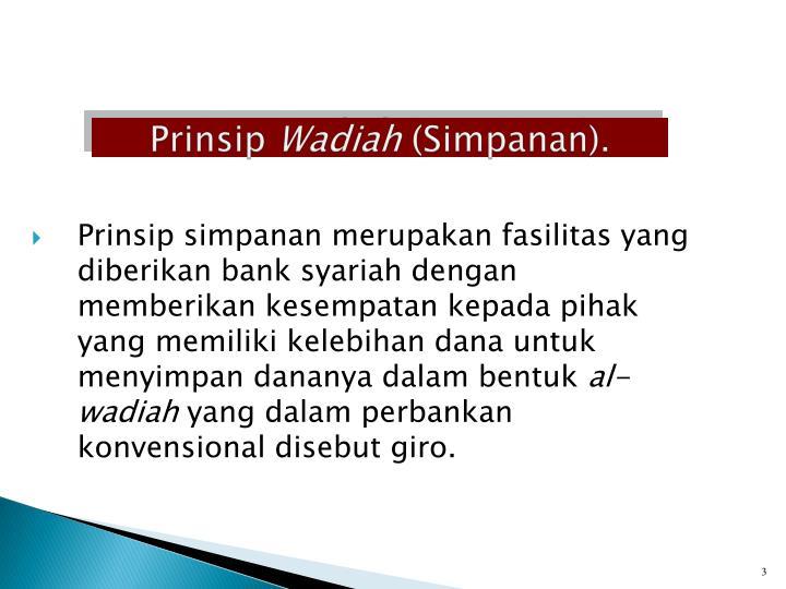 Prinsip wadiah simpanan