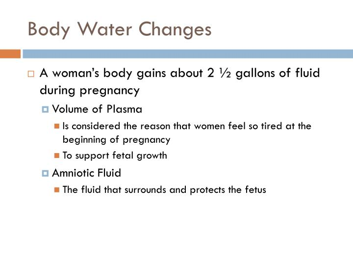 Body Water Changes