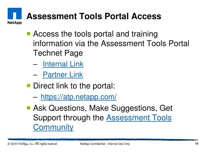 Assessment Tools Portal Access
