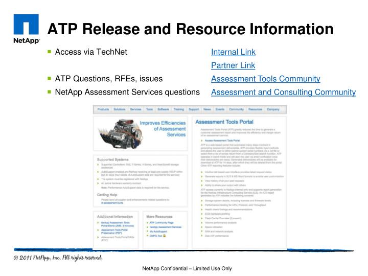 ATP Release and Resource Information