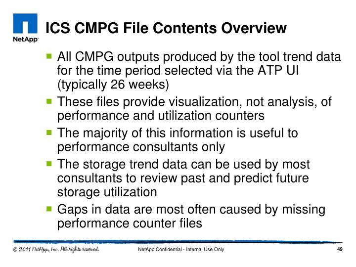 ICS CMPG File Contents Overview