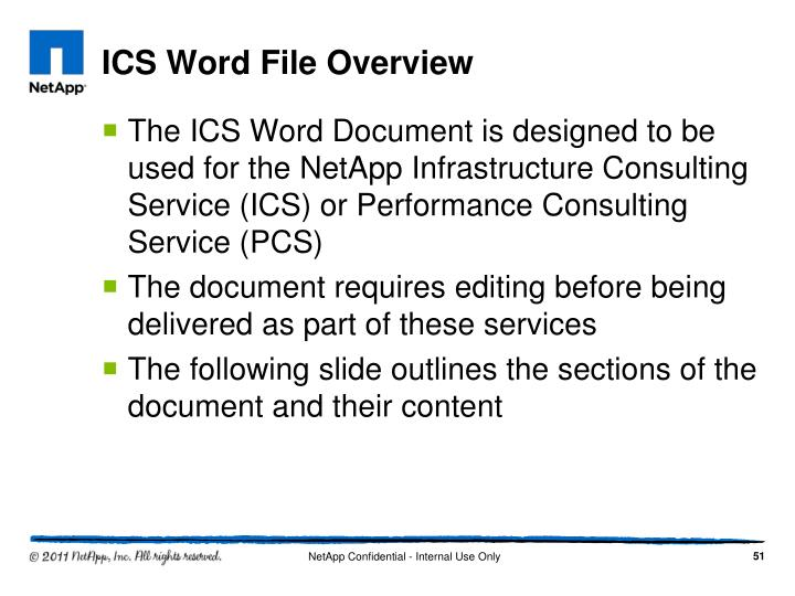 ICS Word File Overview