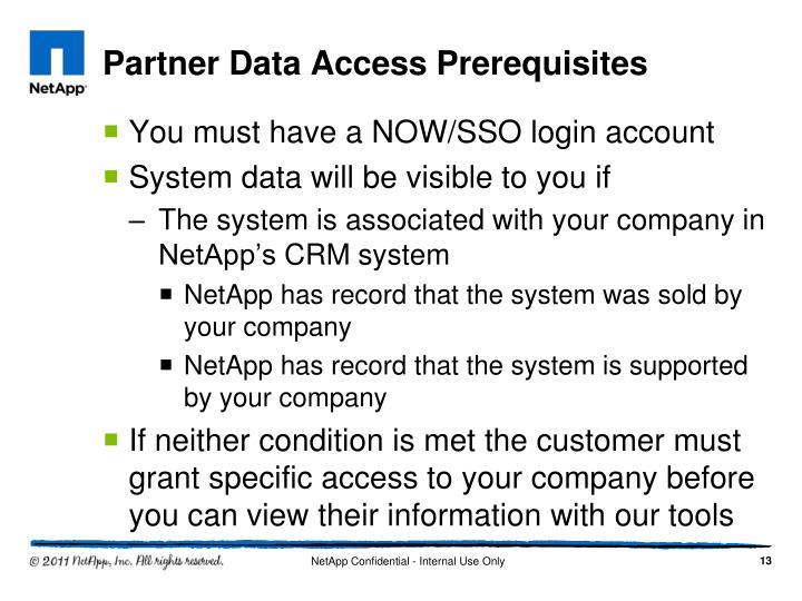 Partner Data Access Prerequisites