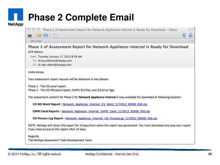 Phase 2 Complete Email