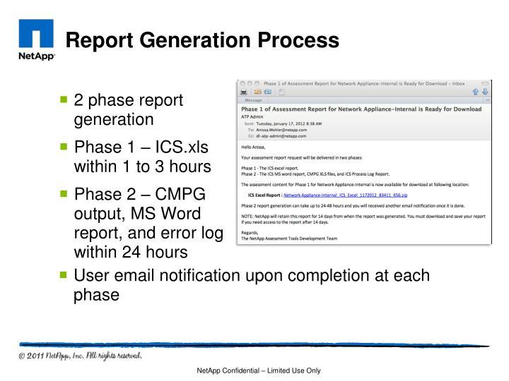 Report Generation Process