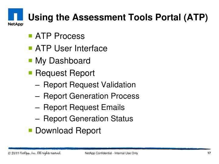 Using the Assessment Tools Portal (ATP)