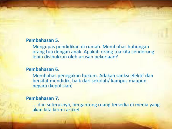 Pembahasan 5