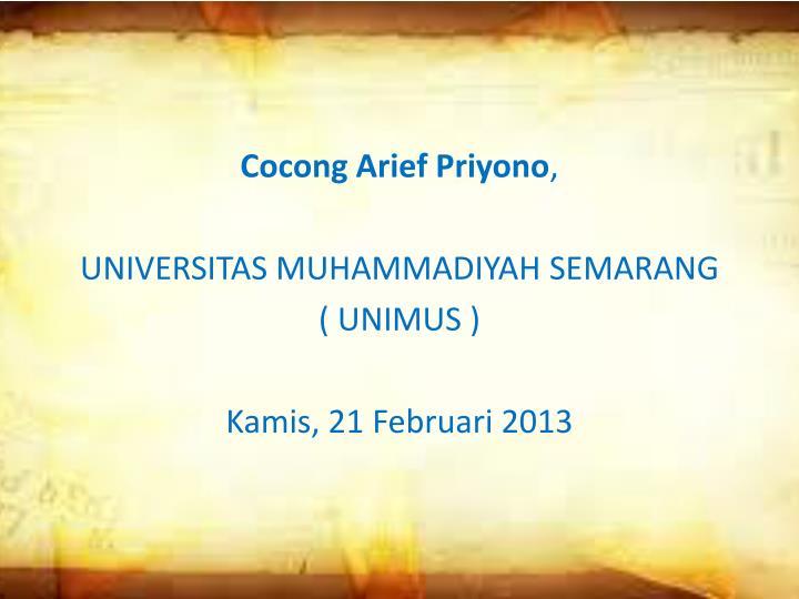 Cocong Arief Priyono