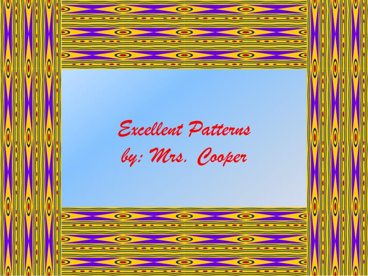 excellent patterns by mrs cooper n.