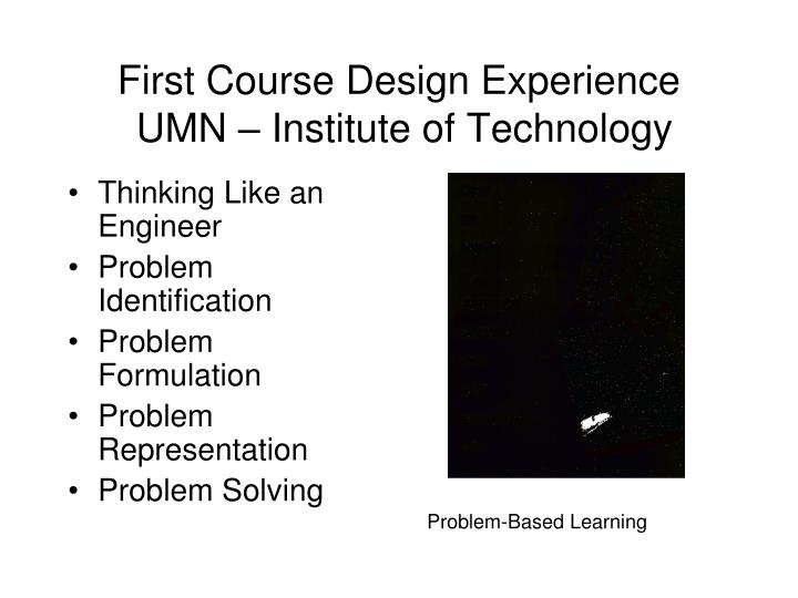 First Course Design Experience