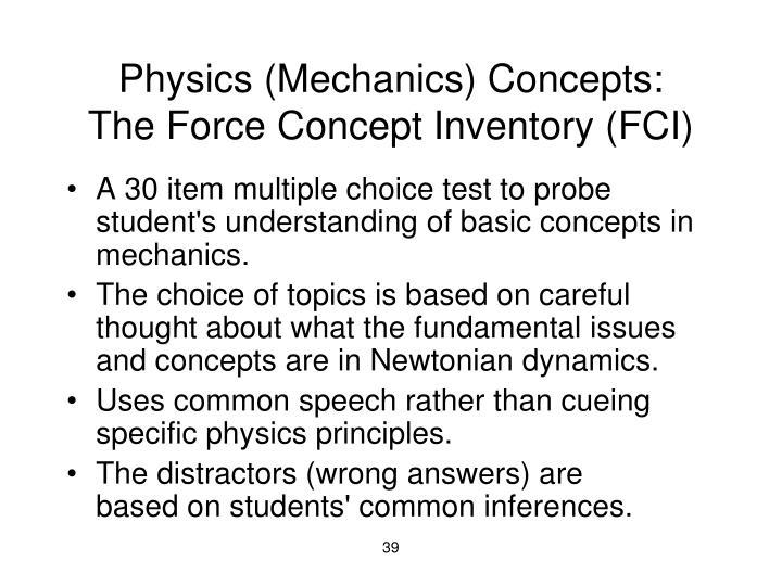 Physics (Mechanics) Concepts: